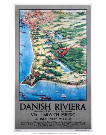 Danish Riviera via Harwich/Esbjerg, LNER, c.1923-1947