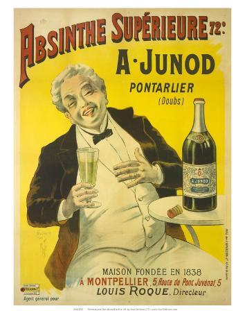 Absinthe Superieure Junod, c.1905