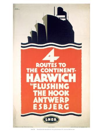 Four Routes to the Continent, LNER, c.1923-1947