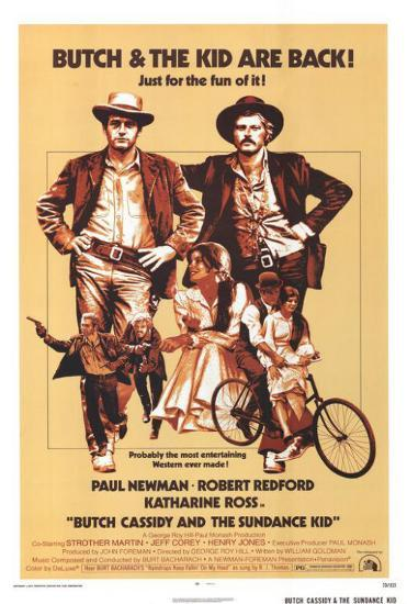 Image result for butch cassidy and the sundance kid movie poster