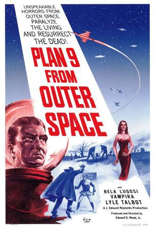 Image result for plan 9 from outer space movie poster
