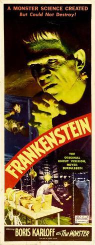 FRANKENSTEIN Scary Movie Oldies Vinyl Sticker Decal