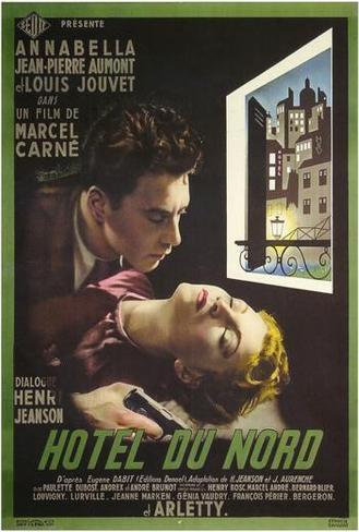 Hotel du Nord Louis Jouvet vintage movie poster print