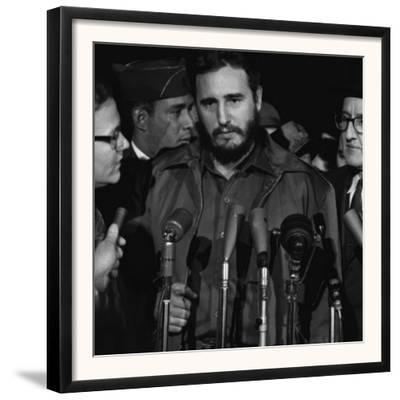 Fidel Castro Arrives Mats Terminal, Washington D.C., by Warren K. Leffler, April 15, 1958