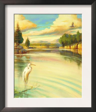 Lake Scene with Heron