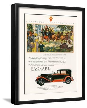Packard, Magazine Advertisement, USA, 1930