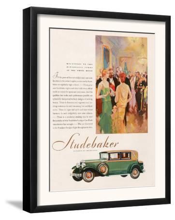 Studebaker, Magazine Advertisement, USA, 1929