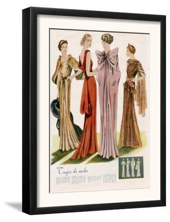 Spanish Fashion Evening Dresses, Spain, 1935