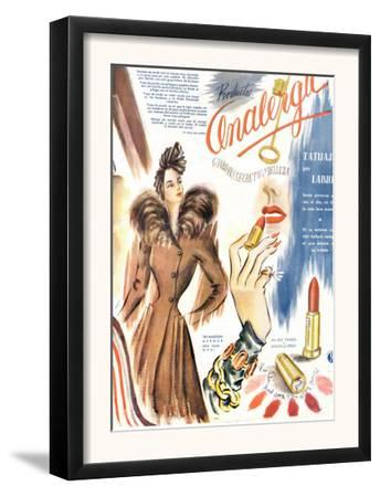 Lipstick, Magazine Advertisement, France, 1930