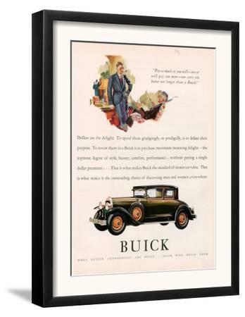 Buick, Magazine Advertisement, USA, 1929