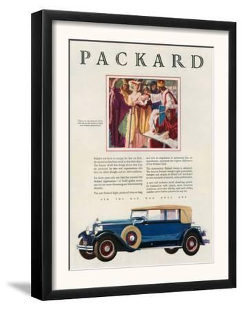 Packard, Magazine Advertisement, USA, 1929