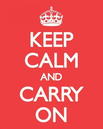 Keep Calm And Carry On (Red)