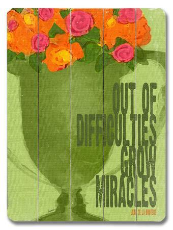 Difficulties Grow Miracles
