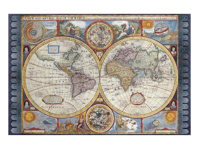 A New And Accvrat Map Of The World 1626.Antique Map New Map Of The World 1626 Premium Giclee Print By John