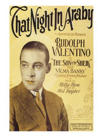 That Night in Araby, Rudolph Valentino