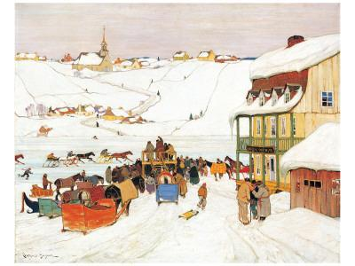 Horse Race in Winter