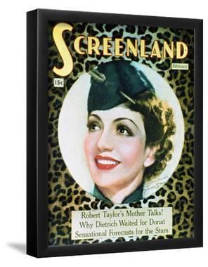 Claudette Colbert - The New Movie Magazine Cover 1930's