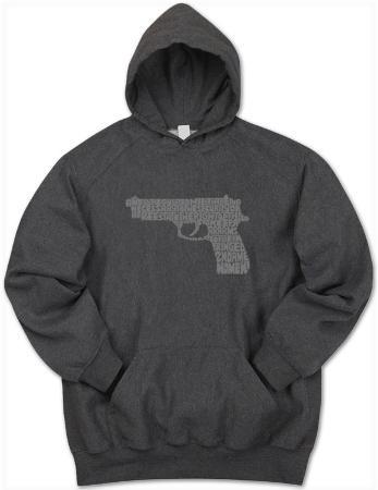 Hoodie: Gun created out of 2nd Amendment