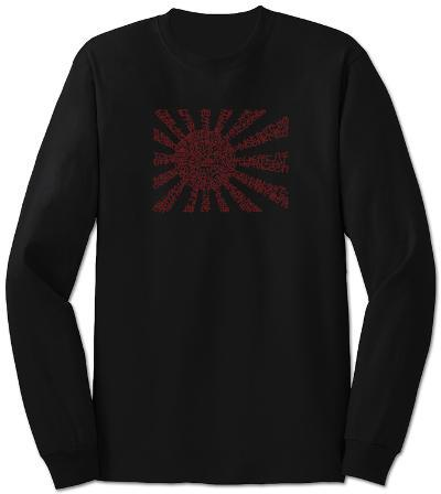 Long Sleeve: Banzai Flag out of Japanese National Anthem