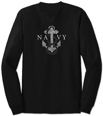 Long Sleeve: Navy Anchors Aweigh