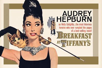 Audrey Hepburn - Breakfast at Tiffany's Gold One-Sheet