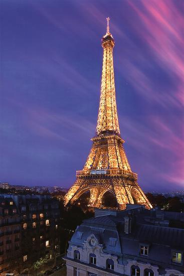 Eiffel Tower At Dusk Prints At Allposters Com