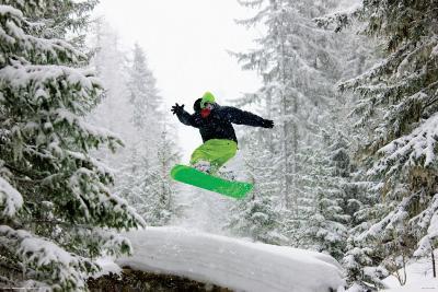 Snowboarder - Green