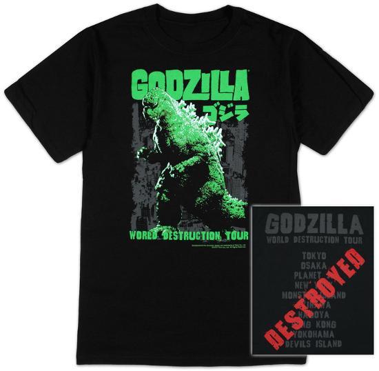 Osaka Subway Map T Shirt.Godzilla World Destruction Tour