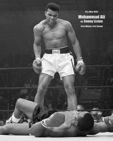 Muhammad Ali - v Liston Portrait