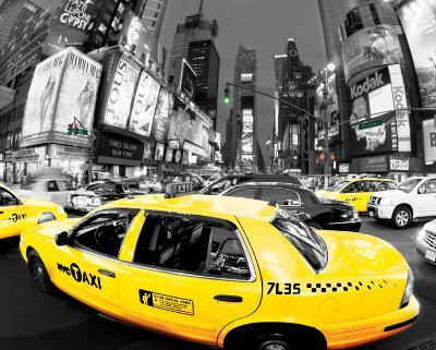 Rush Hour Times Square - Yellow Cabs