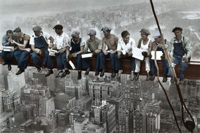 Lunch On A Skyscraper - Color