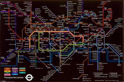 London Underground (Black Map)