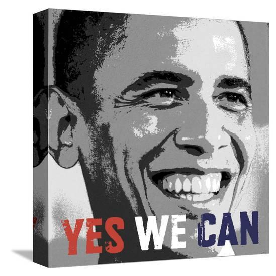 Barack Obama Yes We Can Stretched Canvas Print Allposters Com