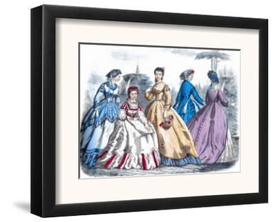 Godey's Fashions, 1865