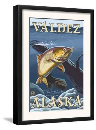 Trout Fishing Cross-Section, Valdez, Alaska
