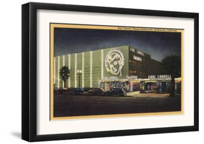 Hollywood, California - View of Earl Carroll Theatre-Restaurant