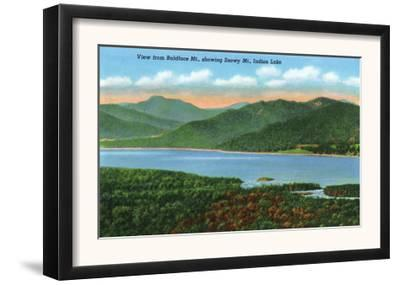 Baldface Mountain, New York - View of Indian Lake and Snowy Mountain