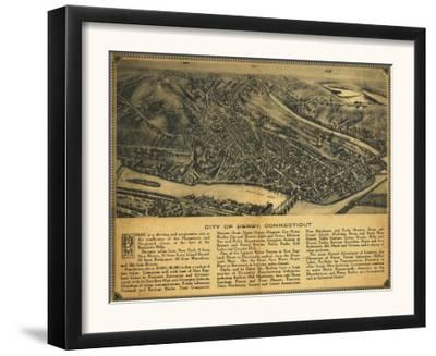 Derby, Connecticut - Panoramic Map