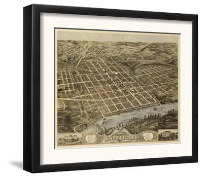 Knoxville, Tennessee - Panoramic Map