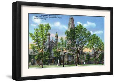 New Haven, CT - View of Harkness Memorial Tower, Dwight Chapel, Yale U