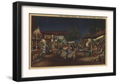Los Angeles, CA - Olvera Street, Mexican Bazaars View