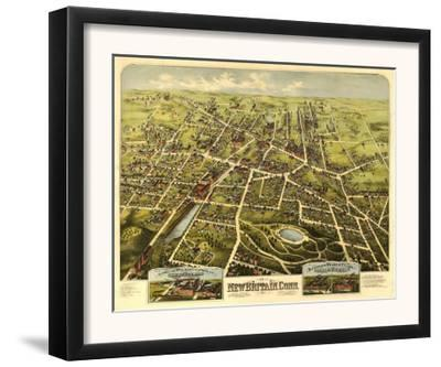 New Britain, Connecticut - Panoramic Map