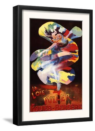 Paris, France - Loie Fuller at Folies-Bergere Theatre Promotional Poster