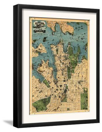 Sydney, Australia - Panoramic Map