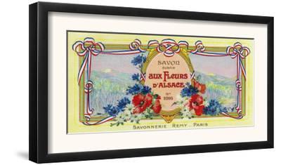 Auz Fleurs D' Alsace Soap Label - Paris, France