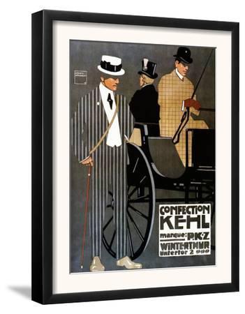 Switzerland - Confection Kehl Gentlemen Clothing Advertisement Poster