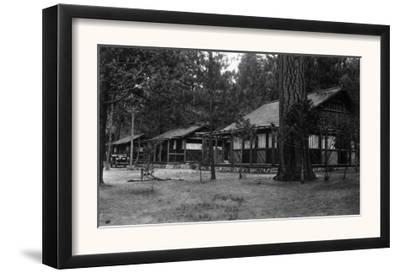 Exterior View of a Camp Curry Bungalow - Yosemite National Park, CA