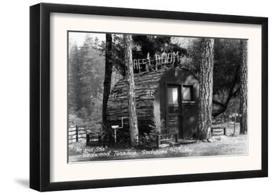 Exterior View of a Redwood Uni-Sex Bathroom - Redwood Terrace, CA
