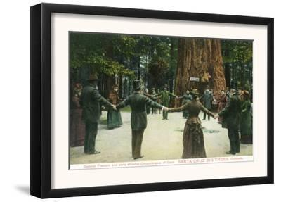 General Fremont Showing Circumference of a Redwood - Santa Cruz, CA