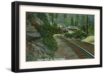 Exterior View of Shasta Retreat from Rail Tracks - Mt. Shasta, CA